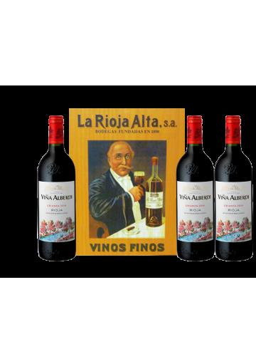VIÑA ALBERDI CRIANZA 2016 ESTUCHE MADERA COLECCION 3 BOTELLAS